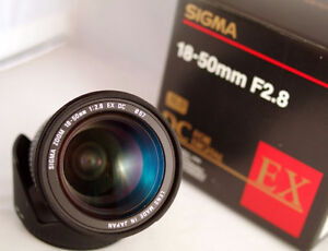 mint sigma EX 18 50 2.8 DC standard zoom for canon