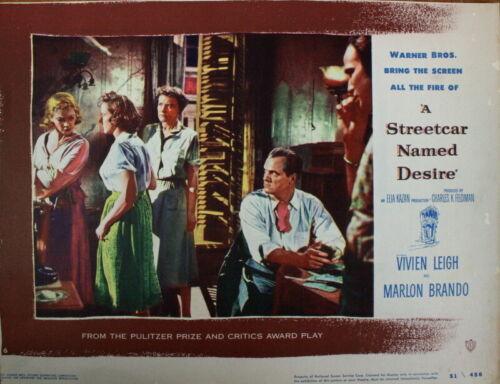 M Brando Vivien Leigh Karl Malden A STREETCAR NAMED DESIRE Kazan 1951 LOBBY CARD
