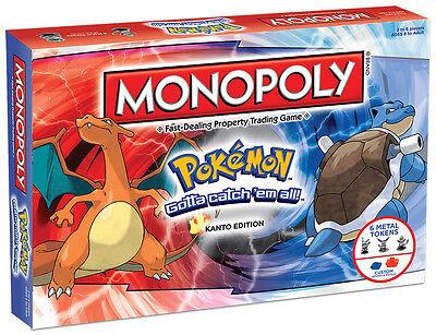 Monopoly Pokemon Kanto Edition Board Game (New Sealed)
