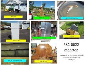 misc items for sale moncton 382-0022