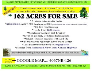 162 acres 5 minutes from moncton city limits [ magnetic hill