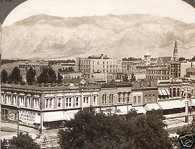 Keystone Stereoview Wasatch Mountains   Ogden  Utah From 1910 S Education Set  A