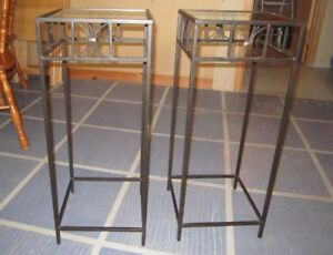 Glass Top Plant Stands