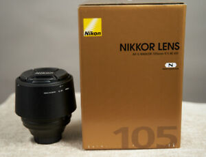 Nikon 105mm F/1.4 ED Nikkor lens in Mint Condition.