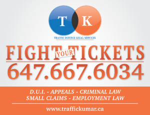 FIGHT YOUR TRAFFIC TICKETS