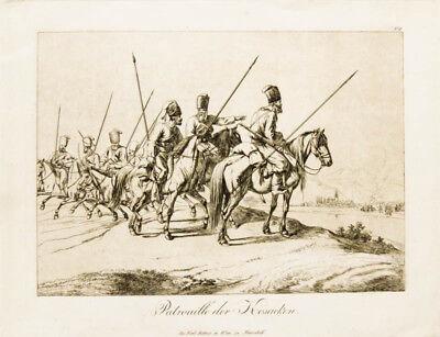 c1820 Kosaken Napoleonische Kriege Klein Johann Adam Radierung