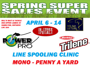 Spring Fishing Sale - Bill's Bait and Tackle
