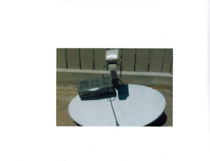 Satellite dish and receiver $20.00