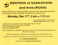 Dec 11 Meeting Renters of Saskatoon and Area (ROSA)