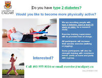 Clinical Exercise Study for individuals with Type Two Diabetes!