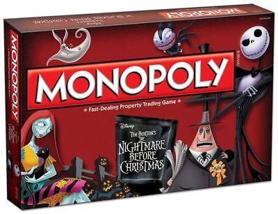 Disney Tim Burtons ' The Nightmare Before Christmas' Monopoly Board Game