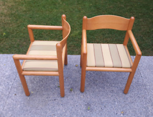 1980's Krug Bent Oak Arm Chairs *Delivery Available*