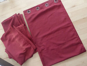2 pairs curtain panels form Bouclair - as is, $ 15 per pair