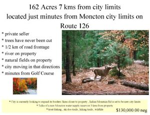 private seller , 162 acres minutes from city