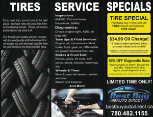 $34.99 Oil Change Special, Full Service Shop