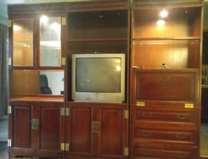 FREE! Wall unit and TV