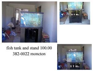 fish tanks large and small , moncton 382-0022