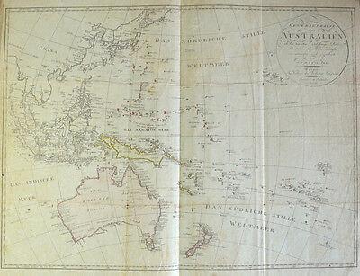 1803 Australien Australia Neuseeland New Zealand Südostasien Southeast Asia Map