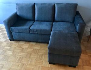 Sofa sectionnel 3 places tissus gris foncé- NEUF