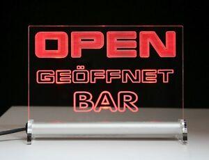 bar open led enseigne lumineuse ouvert ou texte de votre choix. Black Bedroom Furniture Sets. Home Design Ideas