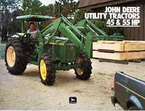 JD Utility Tractor 45 & 55 HP Sales Brochure - Reduced 25% + 10%