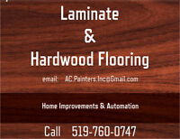 Laminate and Hardwood Flooring by AC Painters Inc