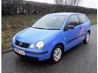 2002 VOLKSWAGEN POLO 1.2 E 3 DOOR HATCHBACK, Blue, Manual, Petrol
