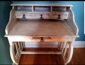 Antique writing desk. Refinished for a weathered look. $400