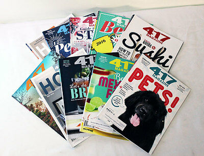 Lot of 10 - 417 Magazine from 2016 Springfield MO and surrounding area - (417 Magazine)