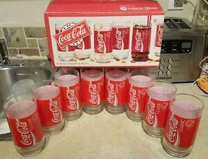 Vintage 8 Coke Coca-Cola Classic Glasses Tumblers