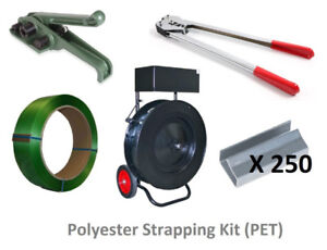 Polyester (PET) Strapping Kit with Strapping Tools and Dispenser