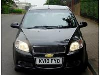 2010 10 plate Chevrolet Aveo 1.2 LS, 5 Doors, Black, 55k Low Mileage, Black