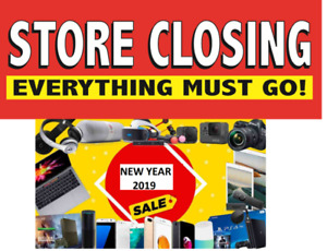 store closing sale everything must go 50% off LAPTOPS,ALL IN ONE