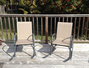 Set of Two Awesome Lightweight Patio Rocking Chairs