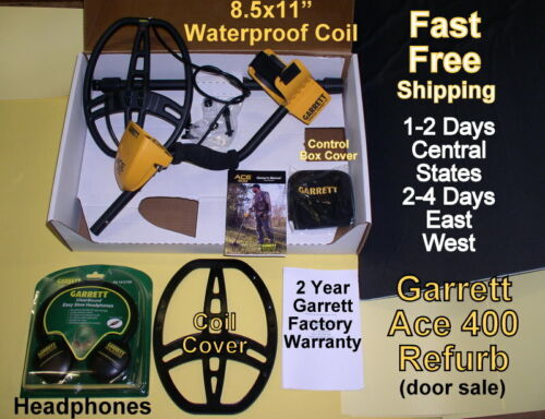 Ace 400 Garrett 1-3 Day Delivery of Refurb Metal Detector with Bonus Items