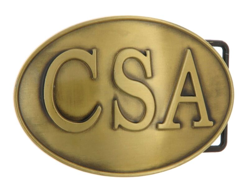 CSA Bronze Plated Metal Belt Buckle