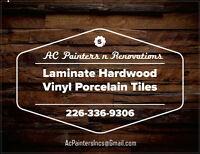 Flooring - Laminate Hardwood Vinyl Porcelain Tiles