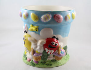 "M&M Ceramic Easter Candy Dish or Flower Pot  6"" from FTD"