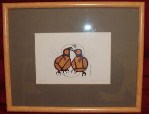 SERENITY - BY NORVAL MORRISSEAU - PROFESSIONALLY FRAMED