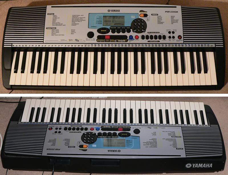 Yamaha psr 225gm keyboard electronic piano with 5 for Yamaha piano keyboard 61 key psr 180