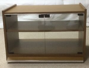 TV Stand with Casters - Wood