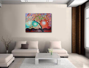 CherryBlossom3D Flowers Painting on Textured Abstract Background London Ontario image 2
