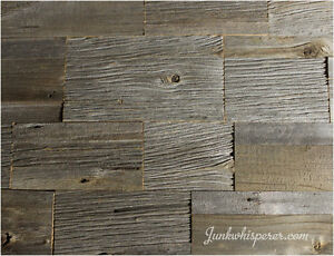 Reclaimed Barn Wood Tiles - Old English Pattern Package
