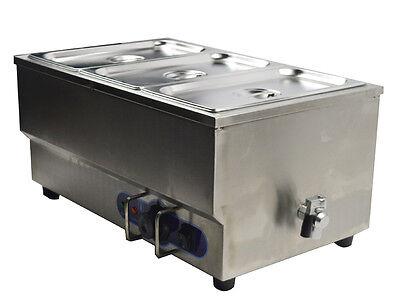 Bain Marie 3 Pan Electric Food Warmer Restaurant Equipment Stainless Steel 6