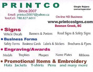 10-20% OFF Signs -Business Forms- Promo Items- Embroidery