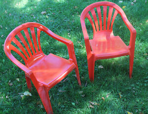 Stacking Toddler Lawn Chairs - Red - New Price! Peterborough Peterborough Area image 1