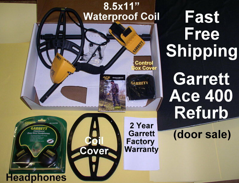 Ace 400 Garrett Refurb Metal Detector with Bonus Items  *  Free Shipping