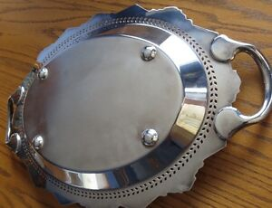 Oval Silver Serving Tray Kitchener / Waterloo Kitchener Area image 3