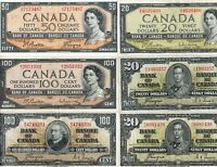 Lot of Canadian Banknotes