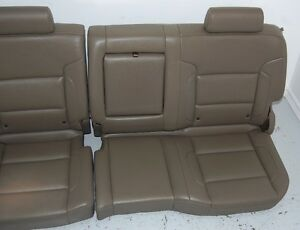 Chevy Truck 2015 Silverado Siera Denali Tan Leather Rear Seat